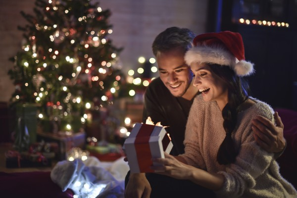 Young Couple at Christmas enjoying a Prize For Every Occasion | Element